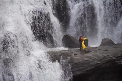 Roman Dial at Bald River Falls