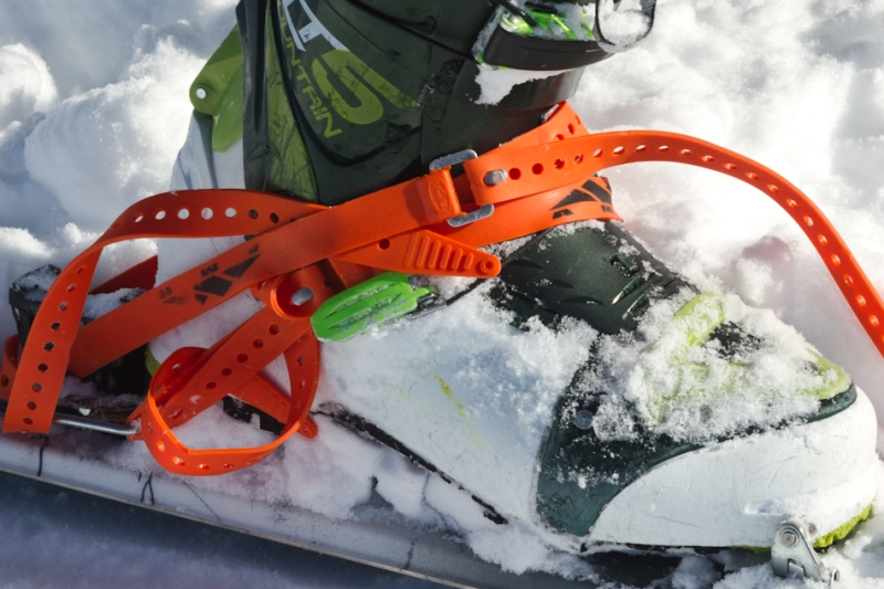 Danny Powers loving his ski-straps on Mt. Fairweather