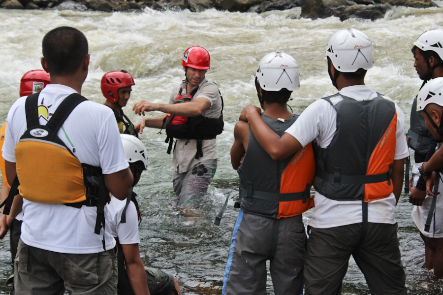 Luc Mehl, APA water safety/rescue workshop. Photo by Zorba Laloo