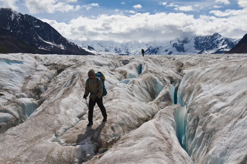 Fan Glacier Crevasse Field