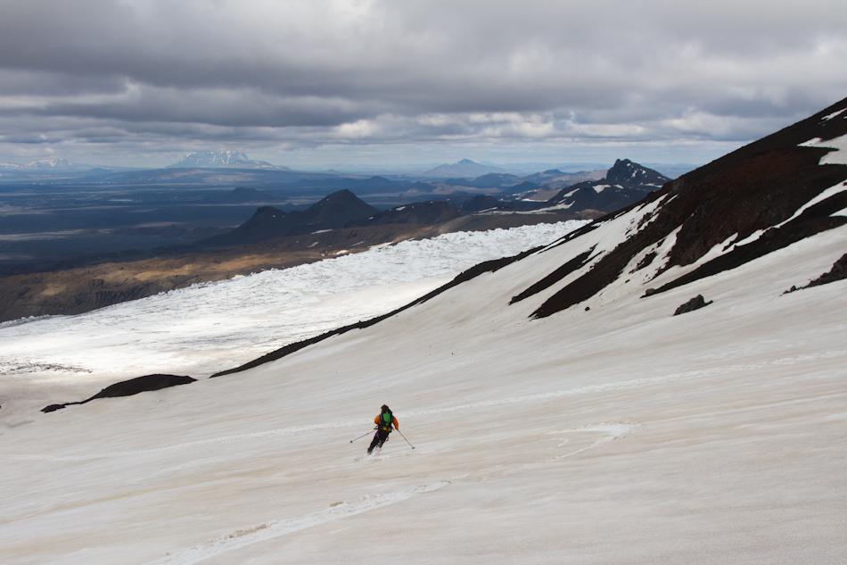 James skiing