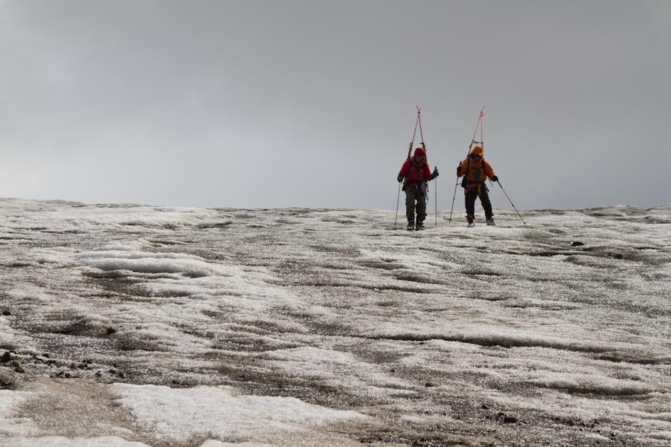 Final ice descent