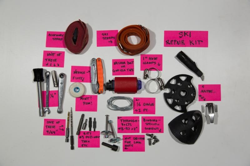 Repair kit components